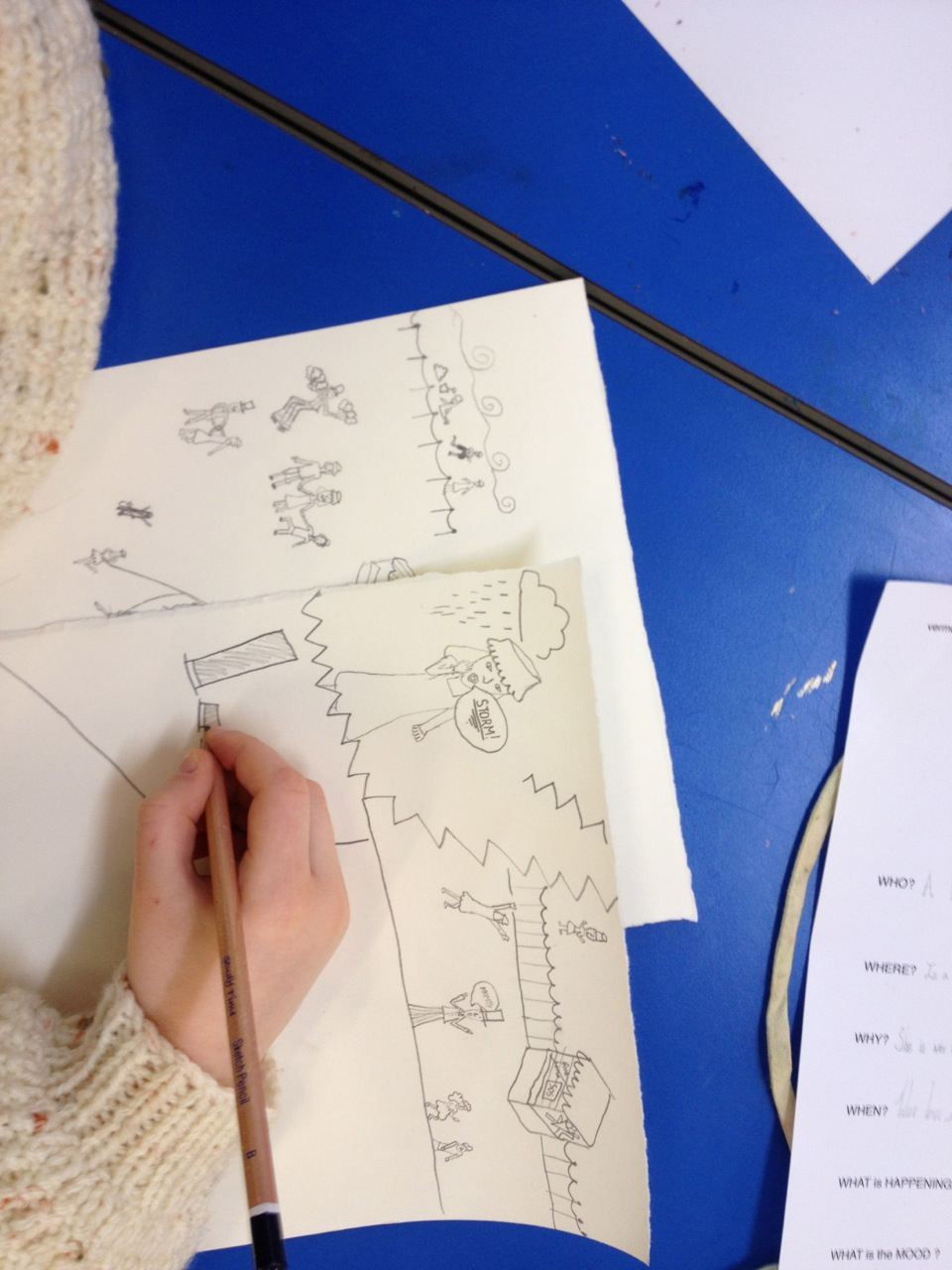 Working on Our Storyboards