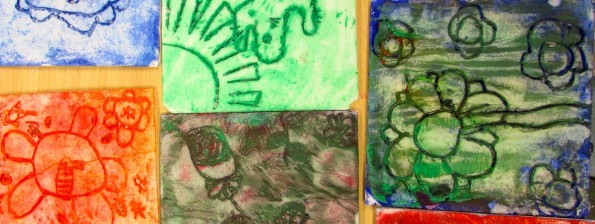Print blocks from children's art school club