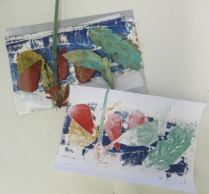 Prints at the Children's Art School half term printmaking course with artist Chrys Allen