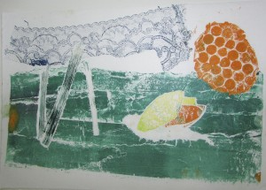Print at the half-term printmaking workshop at the Children's Art School with artist, Chrys Allen
