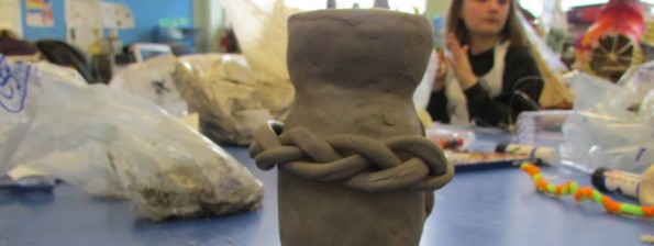 Modelling exercise from sculpture course using everyday objects by artist Karen Logan at the Children's Art School