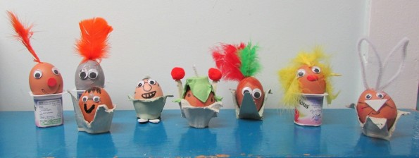 Decorated Eggs at the Children's Art School after school art club led by artist, Karen Logan