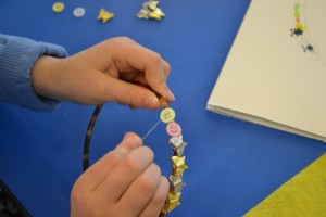 Making hairbands at the Children's Art School holiday course with Charlene Braniff