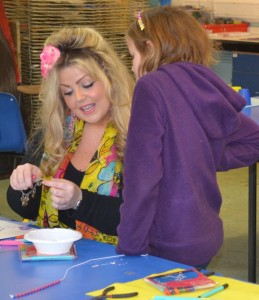 Charlene Braniff hosting a Children's Art School jewellery design holiday art course