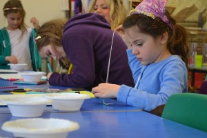 Making necklaces at the Children's Art School holiday jewellery-making course with Charlene Braniff