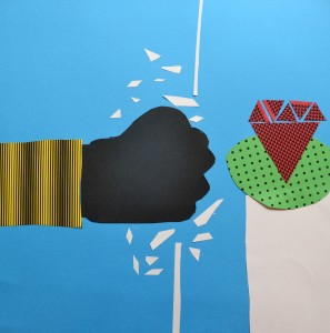 Papercut illustration created for Children's Art School holiday art workshop led by Pencil and Help