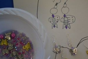 Making earrings at the Children's Art School holiday jewellery-making course with Charlene Braniff