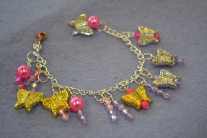 Charm Bracelet made at the Children's Art School holiday jewellery-making course with Charlene Braniff