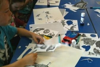 Cutting out collages
